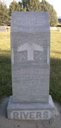 RIVERS, HARIETTE COZELLA - Dawes County, Nebraska | HARIETTE COZELLA RIVERS - Nebraska Gravestone Photos
