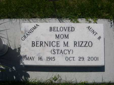 STACY RIZZO, BERNICE M. - Dawes County, Nebraska | BERNICE M. STACY RIZZO - Nebraska Gravestone Photos