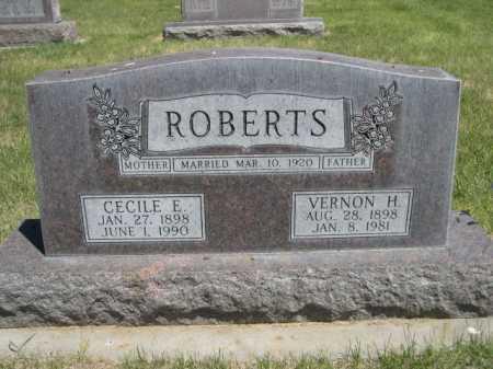 ROBERTS, VERNON H. - Dawes County, Nebraska   VERNON H. ROBERTS - Nebraska Gravestone Photos