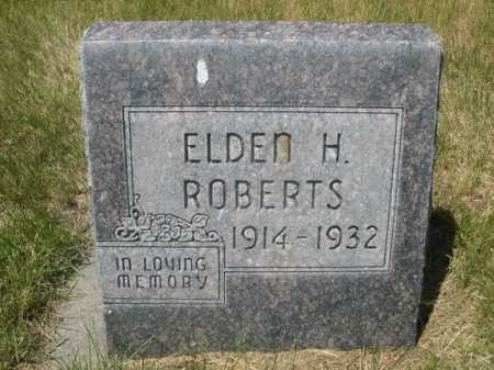 ROBERTS, ELDEN H. - Dawes County, Nebraska | ELDEN H. ROBERTS - Nebraska Gravestone Photos