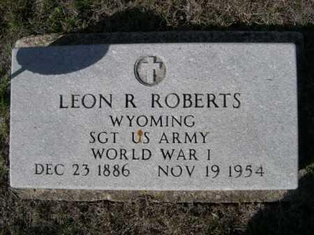 ROBERTS, LEON R. - Dawes County, Nebraska | LEON R. ROBERTS - Nebraska Gravestone Photos