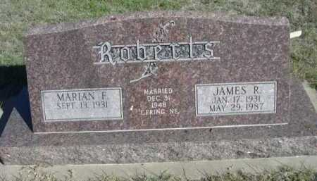 ROBERTS, MARIAN F. - Dawes County, Nebraska | MARIAN F. ROBERTS - Nebraska Gravestone Photos