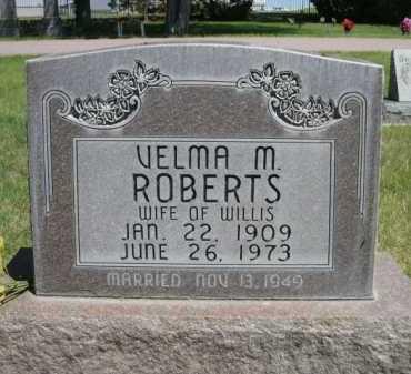 ROBERTS, VELMA M. - Dawes County, Nebraska | VELMA M. ROBERTS - Nebraska Gravestone Photos