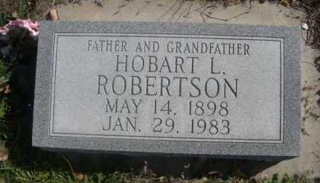 ROBERTSON, HOBART L. - Dawes County, Nebraska   HOBART L. ROBERTSON - Nebraska Gravestone Photos