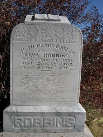 ROBINS, ILAH PEARL GRIGLER - Dawes County, Nebraska | ILAH PEARL GRIGLER ROBINS - Nebraska Gravestone Photos