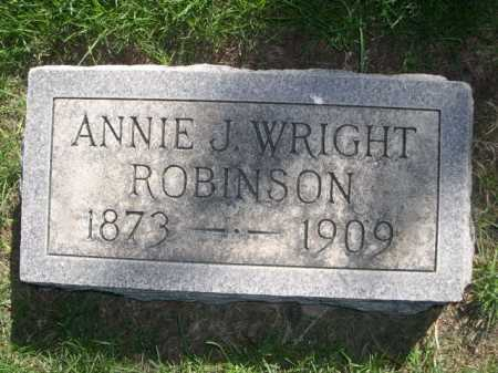 WRIGHT ROBINSON, ANNIE J. WRIGHT - Dawes County, Nebraska | ANNIE J. WRIGHT WRIGHT ROBINSON - Nebraska Gravestone Photos