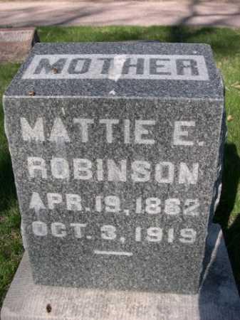 ROBINSON, MATTIE E. - Dawes County, Nebraska | MATTIE E. ROBINSON - Nebraska Gravestone Photos