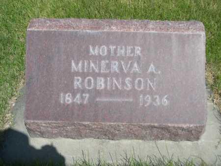 ROBINSON, MINERVA A. - Dawes County, Nebraska | MINERVA A. ROBINSON - Nebraska Gravestone Photos