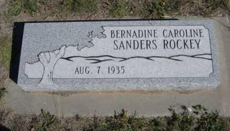 SANDERS ROCKEY, BERNADINE CAROLINE - Dawes County, Nebraska | BERNADINE CAROLINE SANDERS ROCKEY - Nebraska Gravestone Photos