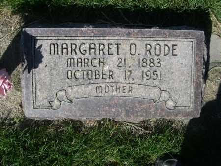 RODE, MARGARET O. - Dawes County, Nebraska | MARGARET O. RODE - Nebraska Gravestone Photos