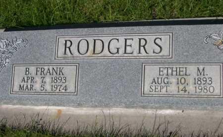 RODGERS, B. FRANK - Dawes County, Nebraska | B. FRANK RODGERS - Nebraska Gravestone Photos