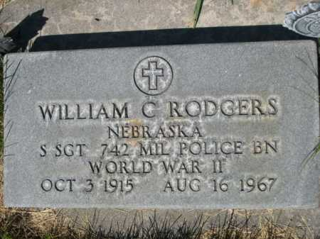 RODGERS, WILLIAM C. - Dawes County, Nebraska | WILLIAM C. RODGERS - Nebraska Gravestone Photos