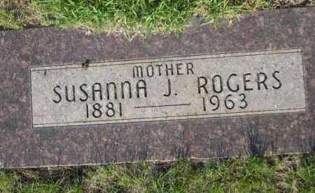 ROGERS, SUSANNA J. - Dawes County, Nebraska   SUSANNA J. ROGERS - Nebraska Gravestone Photos