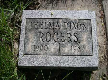 DIXON ROGERS, THELMA - Dawes County, Nebraska | THELMA DIXON ROGERS - Nebraska Gravestone Photos