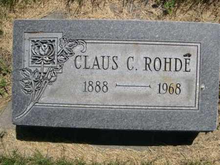 ROHDE, CLAUS C. - Dawes County, Nebraska | CLAUS C. ROHDE - Nebraska Gravestone Photos