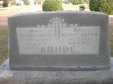 ROHDE, AUGUST MARTIN - Dawes County, Nebraska | AUGUST MARTIN ROHDE - Nebraska Gravestone Photos