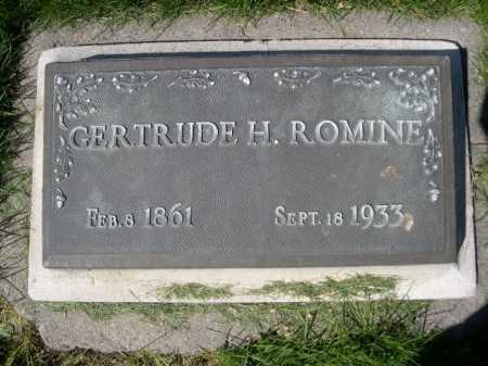 ROMINE, GERTRUDE H. - Dawes County, Nebraska   GERTRUDE H. ROMINE - Nebraska Gravestone Photos