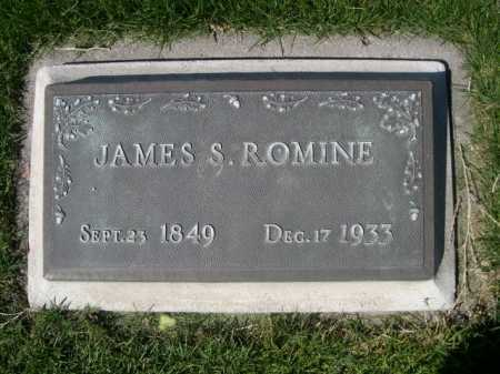 ROMINE, JAMES S. - Dawes County, Nebraska | JAMES S. ROMINE - Nebraska Gravestone Photos