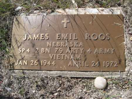 ROOS, JAMES EMIL - Dawes County, Nebraska | JAMES EMIL ROOS - Nebraska Gravestone Photos