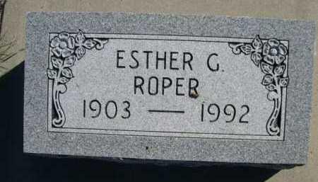 ROPER, ESTHER G. - Dawes County, Nebraska   ESTHER G. ROPER - Nebraska Gravestone Photos