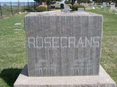 ROSECRANS, EMMA F. - Dawes County, Nebraska | EMMA F. ROSECRANS - Nebraska Gravestone Photos