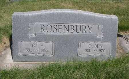 ROSENBURY, LOU E. - Dawes County, Nebraska | LOU E. ROSENBURY - Nebraska Gravestone Photos