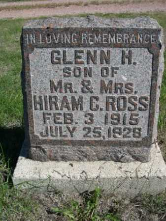 ROSS, GLENN H. - Dawes County, Nebraska   GLENN H. ROSS - Nebraska Gravestone Photos