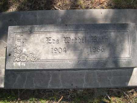 ROTH, EBA WEDDEL - Dawes County, Nebraska | EBA WEDDEL ROTH - Nebraska Gravestone Photos