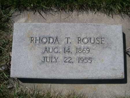ROUSE, RHODA T. - Dawes County, Nebraska   RHODA T. ROUSE - Nebraska Gravestone Photos