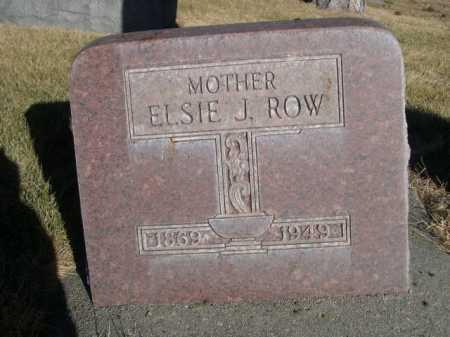 ROW, ELSIE J. - Dawes County, Nebraska   ELSIE J. ROW - Nebraska Gravestone Photos