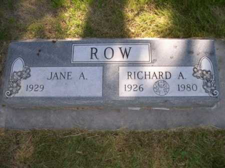 ROW, JANE A. - Dawes County, Nebraska | JANE A. ROW - Nebraska Gravestone Photos
