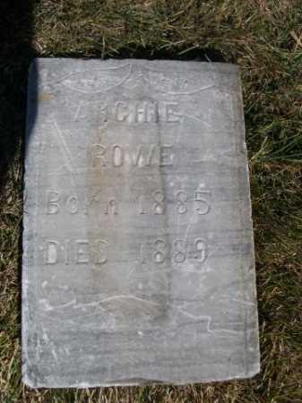 ROWE, ARCHIE - Dawes County, Nebraska   ARCHIE ROWE - Nebraska Gravestone Photos