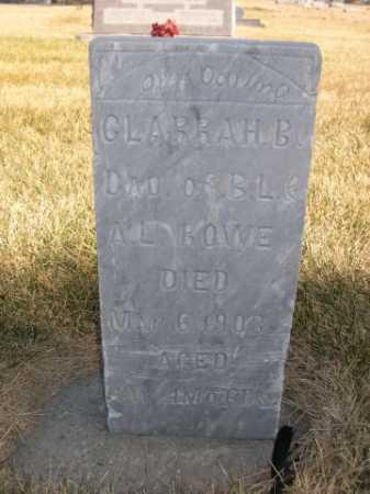ROWE, CLARRAH B. - Dawes County, Nebraska   CLARRAH B. ROWE - Nebraska Gravestone Photos