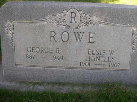 HUNTLEY ROWE, ELSIE W. - Dawes County, Nebraska | ELSIE W. HUNTLEY ROWE - Nebraska Gravestone Photos