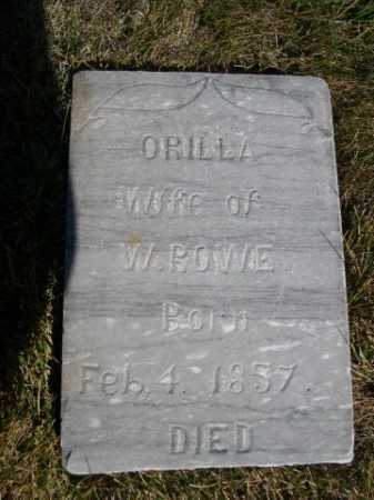 ROWE, ORILLA - Dawes County, Nebraska | ORILLA ROWE - Nebraska Gravestone Photos