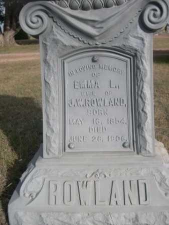 ROWLAND, EMMA L. - Dawes County, Nebraska | EMMA L. ROWLAND - Nebraska Gravestone Photos