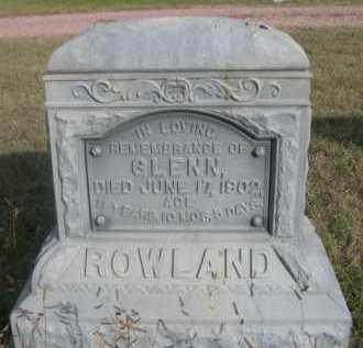 ROWLAND, GLENN - Dawes County, Nebraska | GLENN ROWLAND - Nebraska Gravestone Photos