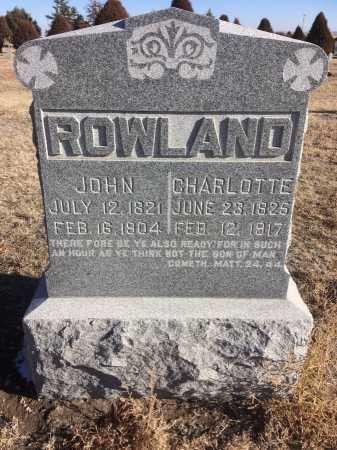 ROWLAND, CHARLOTTE - Dawes County, Nebraska | CHARLOTTE ROWLAND - Nebraska Gravestone Photos
