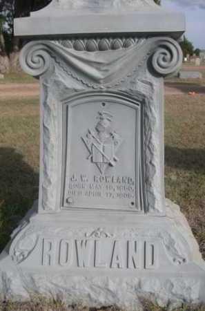ROWLAND, J.W. - Dawes County, Nebraska | J.W. ROWLAND - Nebraska Gravestone Photos