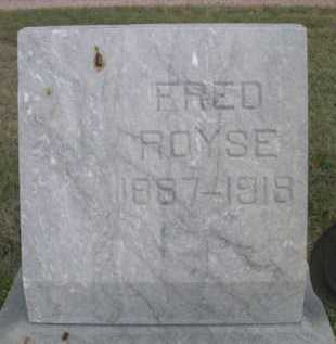 ROYSE, FRED - Dawes County, Nebraska | FRED ROYSE - Nebraska Gravestone Photos