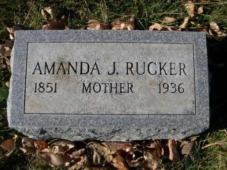 RUCKER, AMANDA J. - Dawes County, Nebraska | AMANDA J. RUCKER - Nebraska Gravestone Photos