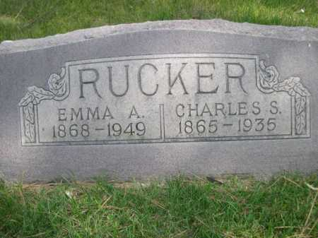 RUCKER, EMMA A. - Dawes County, Nebraska | EMMA A. RUCKER - Nebraska Gravestone Photos