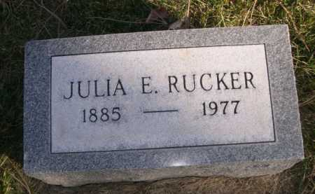 RUCKER, JULIA E. - Dawes County, Nebraska | JULIA E. RUCKER - Nebraska Gravestone Photos