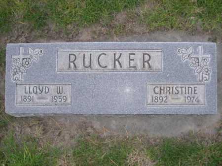RUCKER, CHRISTINE - Dawes County, Nebraska | CHRISTINE RUCKER - Nebraska Gravestone Photos