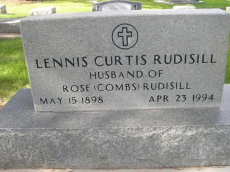 RUDISILL, LENNIS CURTIS - Dawes County, Nebraska   LENNIS CURTIS RUDISILL - Nebraska Gravestone Photos