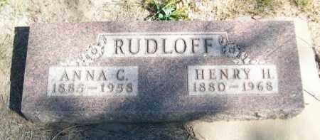 RUDLOFF, HENRY H. - Dawes County, Nebraska | HENRY H. RUDLOFF - Nebraska Gravestone Photos