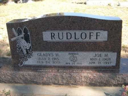 RUDLOFF, JOE H. - Dawes County, Nebraska | JOE H. RUDLOFF - Nebraska Gravestone Photos