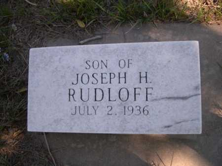 RUDLOFF, SON OF JOSEPH H. - Dawes County, Nebraska | SON OF JOSEPH H. RUDLOFF - Nebraska Gravestone Photos