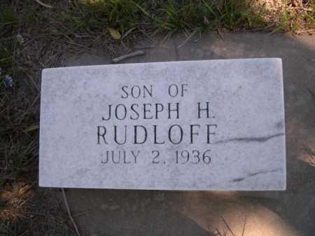 RUDLOFF, SON OF JOSEPH H. - Dawes County, Nebraska | SON OF JOSEPH H. RUDLOFF - Nebraska Gravestone Photos
