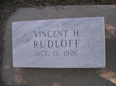 RUDLOFF, VINCENT H. - Dawes County, Nebraska   VINCENT H. RUDLOFF - Nebraska Gravestone Photos
